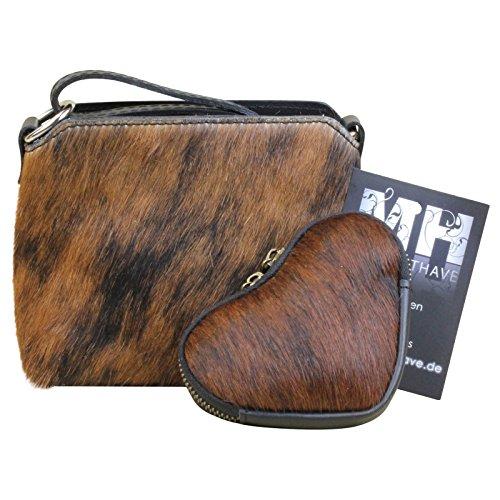 Kuhfell Fell Tasche Clutch Damentasche italienische Felltasche Geldbörse Set Shopper, Modell:Modell 12 Modell 10