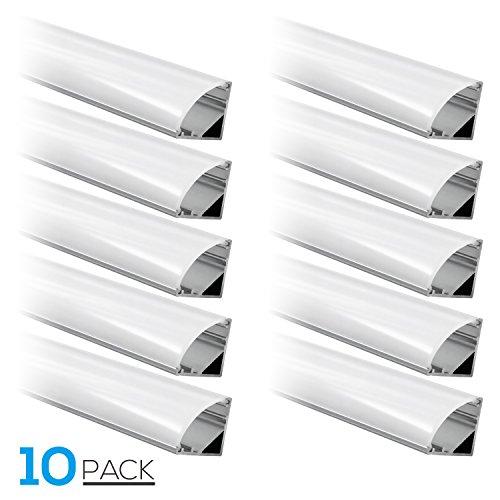 1m/3.3ft Aluminum V-Shape Channel for flex/hard LED