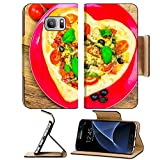 Luxlady Premium Samsung Galaxy S7 Flip Pu Leather Wallet Case IMAGE ID 25639700 Delicious italian pizza served on wooden table offers