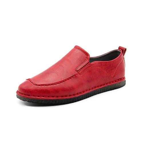 Idea Frames - Mocasines de Charol para Hombre, Color Rojo, Talla 41 EU: Amazon.es: Zapatos y complementos