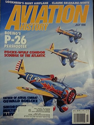 Used, Aviation History July 1996 Vol 6 No 6: Boeing's P-26 for sale  Delivered anywhere in USA
