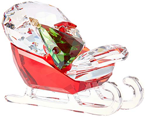 Swarovski Santa's Sleigh Christmas Holiday Figurine, Red/Green/Clear Crystal - 5403203 (Crystal Figurines Christmas)