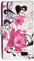 HR Wireless Cell Phone Case for ZTE Avid Trio Z833 - Purple Lily