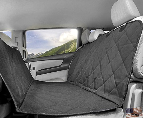 Best Car Pet Seat Covers For Dogs, Fits Trucks and SUVs, Perfect for the Back, Bench and Trunk, Waterproof, Quilted, Hammock Style, Heavy Duty, Machine Washable, ECO Friendly Material, By RuffGear Review