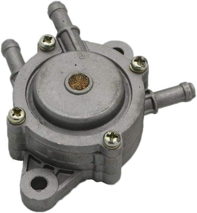 SHANGGUAN Accesorios para motocicletas ATV, cortacésped, bomba de combustible para tractor 691034/808281 aleación de aluminio resistente al aceite (Color : Gray)