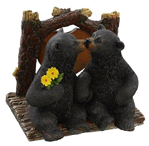 - DeLeon Decorative Black Bears Kissing Napkin Holder - Rustic Cabin Art