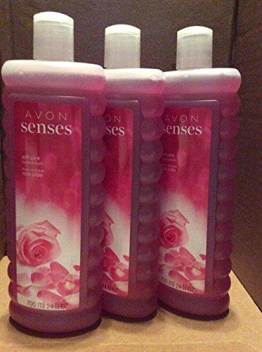 Avon senses soft pink bubble 24 fl.oz. lot 3 pcs.