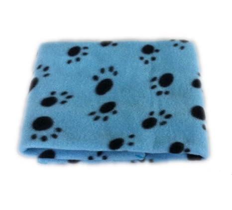 Manta de Lana para Gato Perro, Precioso Diseño Impresión de la Pata Caliente Suave Fleece