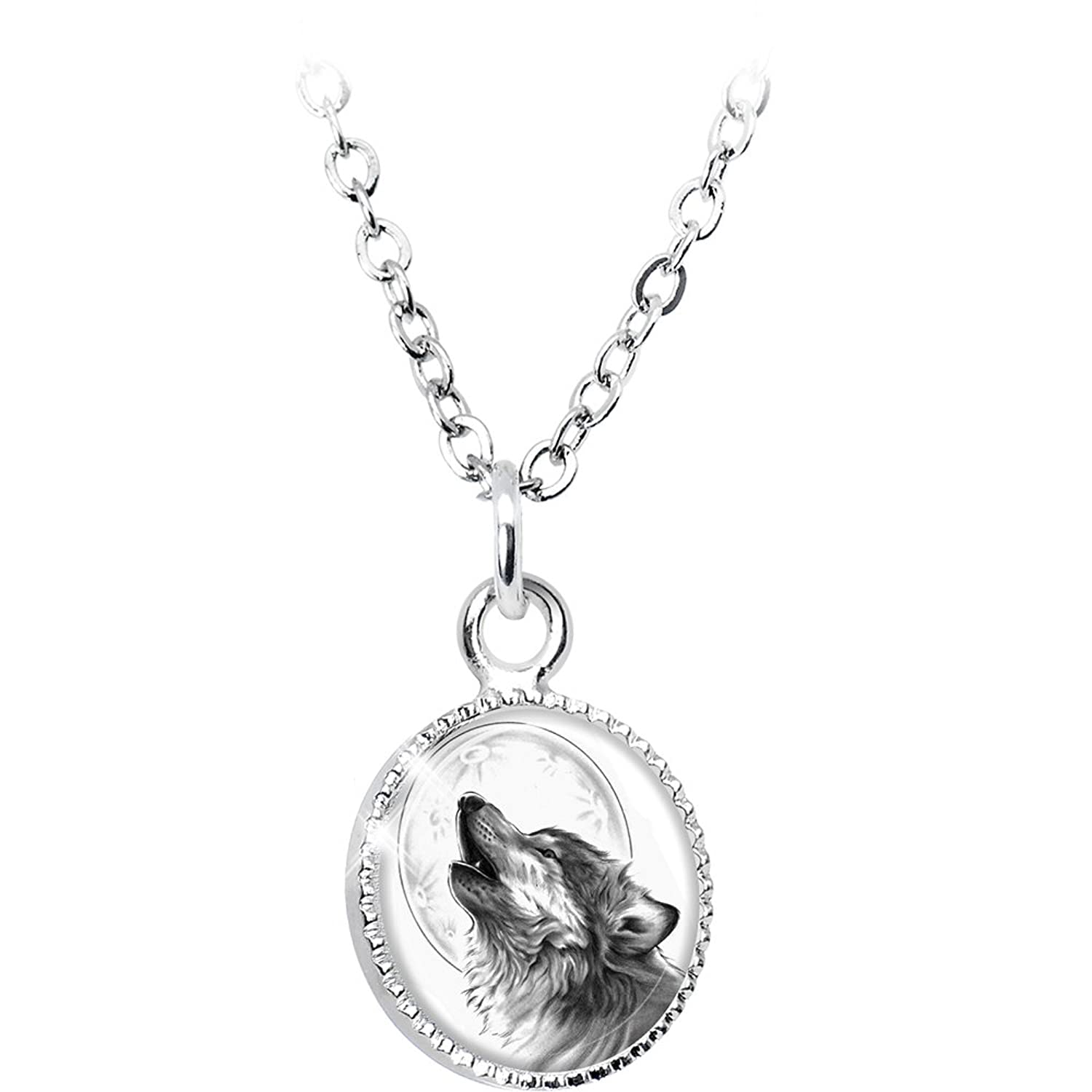 Amazon.com: Body Candy Howling Wolf Pendant Necklace: Jewelry