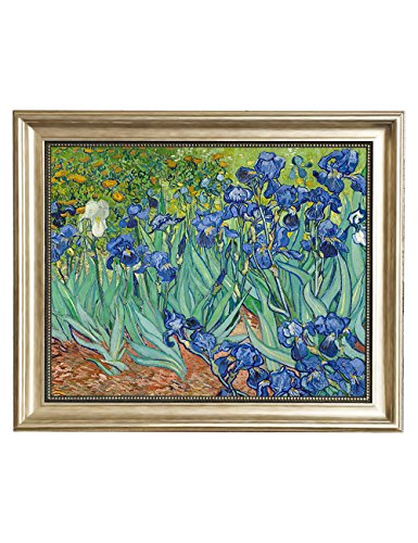 - Eliteart-Irises in The Garden By Vincent Van Gogh Giclee Art Canvas Prints-Framed size:19 1/2