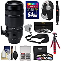 Fujifilm 100-400mm f/4.5-5.6 XF R LM OIS WR Zoom Lens with 3 UV/CPL/ND8 & 6 Color Filters + 64GB Card + Backpack + Tripod + Kit