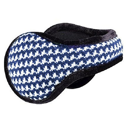 Degrees By 180s Women's Houndstooth Adjustable Behind the Head Ear Warmers Muffs (Orient Blue) by Degrees By 180's (Image #1)