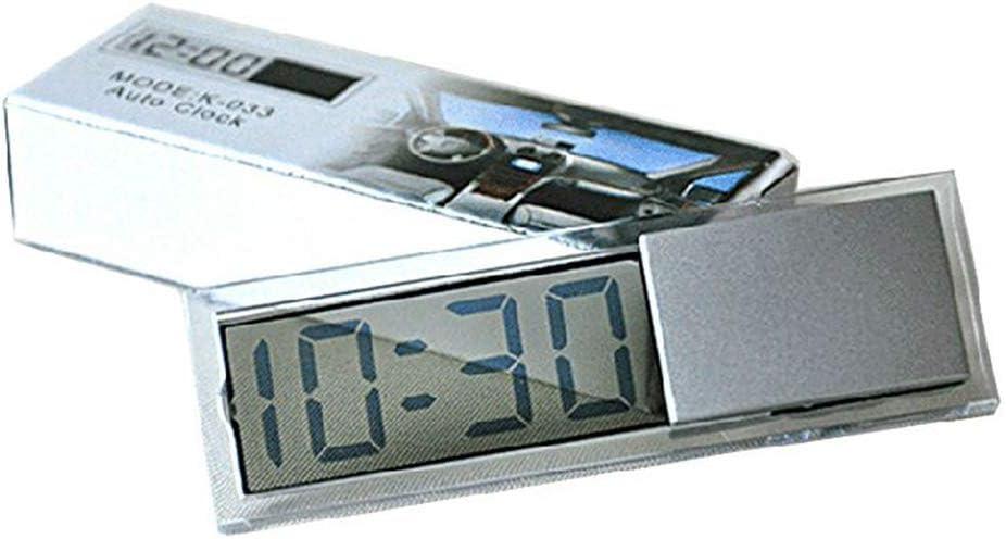 Fliyeong Tragbare Mini Auto Elektronische Digitaluhr Mit Transparenter Lcd Anzeige Mit Saugnapf Auto Zeitanzeige 1 Stücke Küche Haushalt