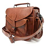 rofozzi Leather Camera Bag for Men and Women - Multipurpose Handbag with Removable Insert - Smooth Vegan Leather - Fits Standard Size DSLR with Lens