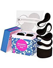 Green Estate Reusable Makeup Remover Pads - 14 Pack With Laundry Bag - Two Tone Microfiber - Black Side For Mascara, Eye Shadow, Lipstick, Foundation - White Side For Toner And Moisturizer.