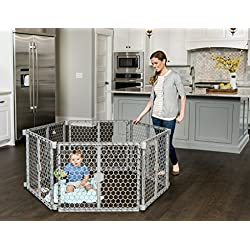 Regalo 192-Inch Super Wide Gate and Configurable 8-Panel Plastic Play Yard, Indoor/Outdoor