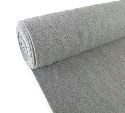 5 Yards Light Gray Upholstery Durable Un-Backed Automotive Trim Carpet 40