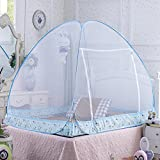 MLF-Baby Foldable Mosquito Net Wire zipper type can be hung,180*200*150,Blue