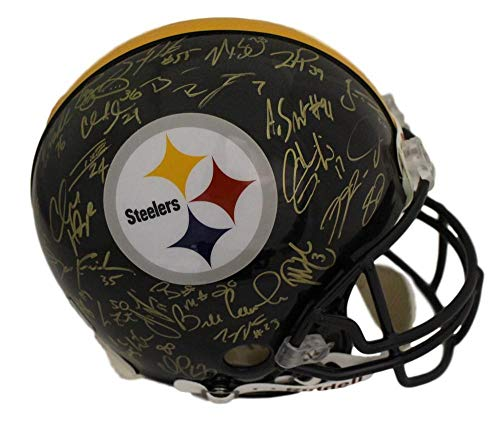 (Pittsburgh Steelers Super Bowl Xl Autographed Signed Proline Helmet 28 Sigs Bas - Certified Authentic)