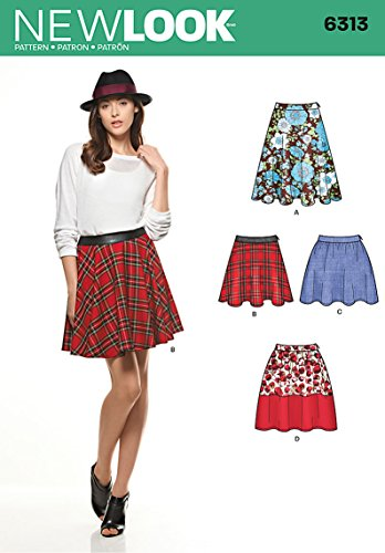 Simplicity New Look Pattern 6313 Misses Set of Skirts in Three Lengths Sizes 4-6-8-10-12-14-16