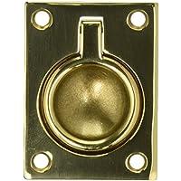 Baldwin 0394.030 1.875-Inch x 2.5-Inch Flush Ring Pull, Polished Brass by Baldwin
