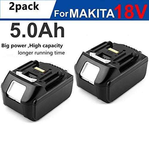2Pack NEW 18V 5.0AH Lithium-Ion Battery For MAKITA BL1830 BL1815 LXT 400 BL1840 194205-3, - Drill Skill 18v Cordless