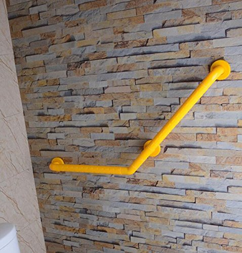 MDRW-Bathroom Handrail 135° Wall Stainless Steel Nursing Homes Health Toilet Dedicated Toilet Armrest Bathroom Slip Safety Handrail 450450Mm Yellow by Olici