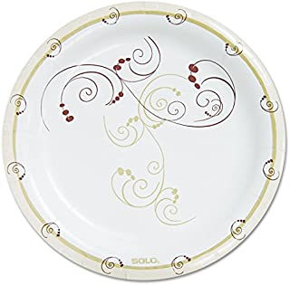 """product image for SOLO Cup Company - Symphony Paper Dinnerware, Heavyweight Plate, 9"""", Tan, 125/Pack HP9S-J8001PK (DMi PK"""