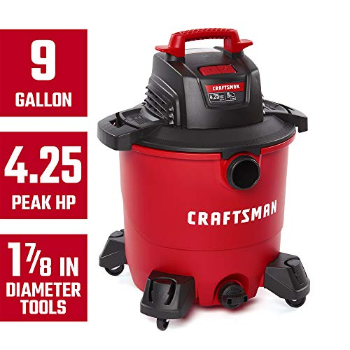 CRAFTSMAN CMXEVBE17590 9 gallon 4.25 Peak Hp Wet/Dry Vac, Portable Shop Vacuum with Attachments by Craftsman (Image #1)