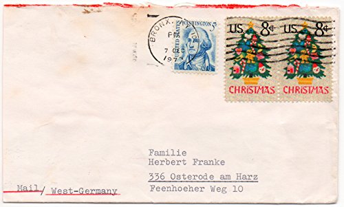 (US Postal Cover 1973 With 8 Cents US Postage Stamps Scott #1508 & 5 Cent Scott #1283)