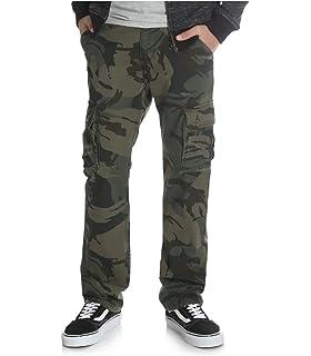 6 Regular, Grey Camo Wrangler Boys Camo Cargo Pants Classic Twill