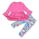Toddler Girls Ruffle Dress Shirt Tops & Floral