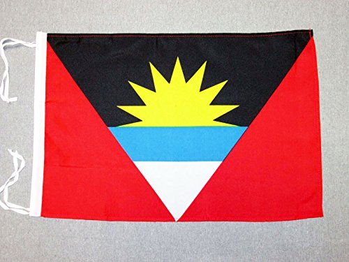 AZ FLAG Antigua and Barbuda Flag 18'' x 12'' Cords - Antiguan Barbudan Small Flags 30 x 45cm - Banner 18x12 ()