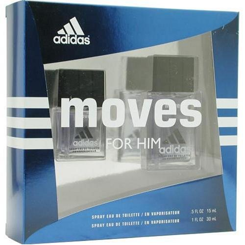 Adidas Moves By Adidas For Men. Set-edt Spray 1 OZ & Eau De Toilette Spray .5 (Adidas Set Edt Spray)