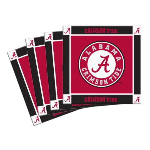NCAA Alabama Crimson Tide 4-Pack Ceramic (Alabama Crimson Tide Coaster)