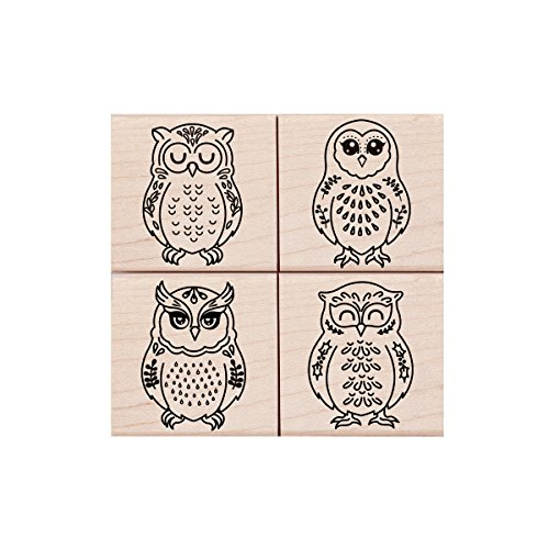 Hero Arts Four Owls Rubber Stamp ()