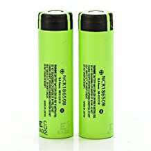 2 Panasonic 3400MAH NCR18650B IMR 18650 3.7V FT authentic original flat top high drain rechargeable battery batteries by V Force