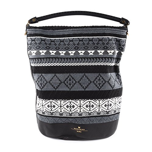 Black Mara Hobo Bag Hately Embroidered Women's Weekend 001 Max q68g44