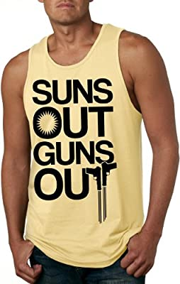 Suns Out Guns Out Tank Top Funny Summer Muscles Shirt Sleeveless Tee