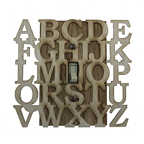 """ABC Switch Plate - Raw Wood - 5.6""""x5.1"""" for sale  Delivered anywhere in USA"""