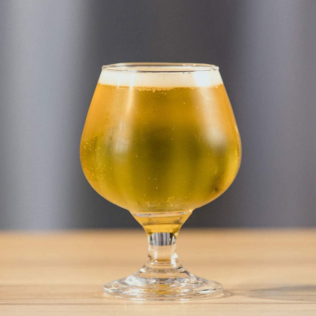 RyanBm Jarras de Cerveza Tazas de Cerveza de Vidrio Grueso Grueso Creativo Tazas de Cerveza 9 * 4.8 CM Personalidad Alemana Cerveza Artesanal Taza de Jugo de Vidrio 250ML (2 Paquetes)