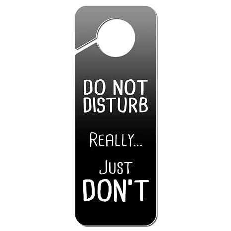 Panneau de porte en plastique rouge /« Keep Calm And Do Not Disturb /»