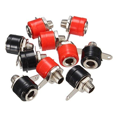YXQ 30Pcs 4mm Banana Plug Jack/Socket Cable Connector Speaker Amplifier Binding Post Adapter ()