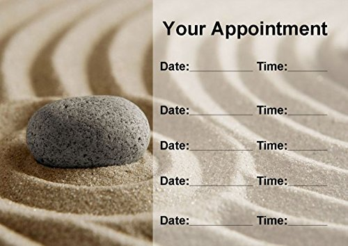 Beauty Salon Spa Treatment Massage Stone Sand Personalized Appointment Cards
