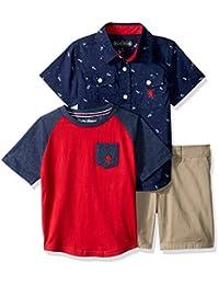 English Laundry Camisa Tejida de Manga Corta para Niños e3bae1075168b