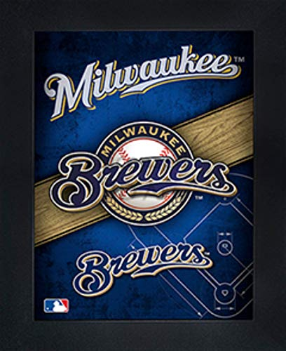 Milwaukee Brewers 3D Poster Wall Art Decor Framed | 14.5x18.5"