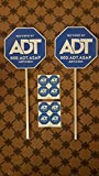 #1: Home Security yard signs and stickers ADT 2 New