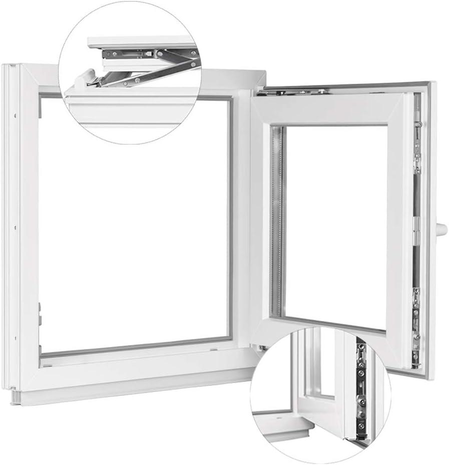 BxH: 90x120 cm DIN Rechts Fenster Kellerfenster Kunststofffenster Breite: 90 cm Premium 2 fach Verglasung Alle Gr/ö/ßen Dreh Kipp Wei/ß