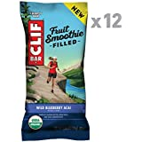 Clif Fruit Smoothie Filled - Organic Energy Bar - Wild Blueberry Acai - (1.76 Ounce Protein Snack Bar, 12 Count)