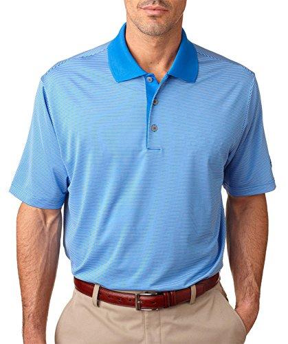 Adidas ClimaLite Men's Classic Stripe Pique Polo Shirt, Tide/Twilight, XXX-Large (Adidas Shirt Polo Classic)